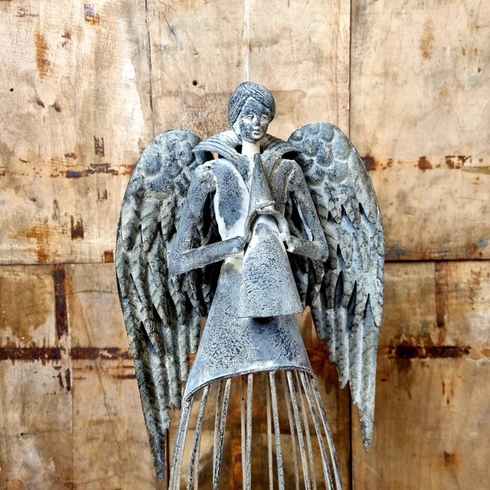 metal angel with cage 2