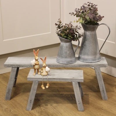 set of 2 wooden potting benches